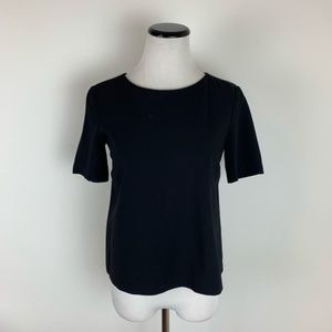 Theory Short Sleeve Pullover Blouse Black Size S